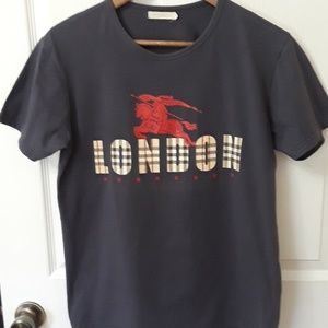 Burberry Tops - Burberry London  Sz XL gray short sleeve t-shirt